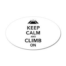 Keep calm climb on mountains 35x21 Oval Wall Decal