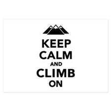 Keep calm climb on mountains Invitations