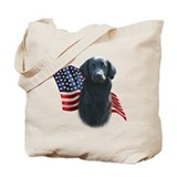 Flat-Coat Flag Tote Bag