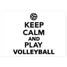 Keep calm and play Volleyball Invitations