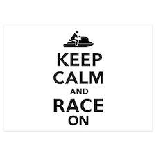 Keep calm and race on Jet Ski Invitations