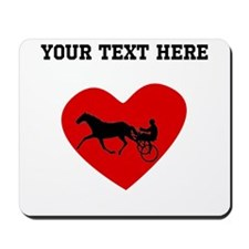 Harness Racing Heart (Custom) Mousepad