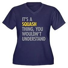 Its A Sqash Women's Plus Size V-Neck Dark T-Shirt