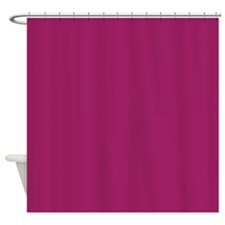 Fuchsia Purple Solid Color Shower Curtain