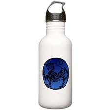 Shotokan Tiger on Dark Water Bottle