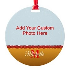 Xmas Photo Name Ornament