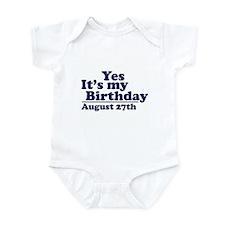 August 27 Birthday Infant Bodysuit