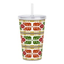 Menominee Leaves Acrylic Double-wall Tumbler