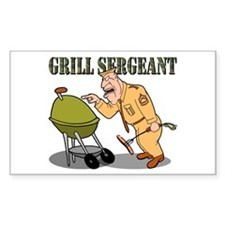 Grill Sergeant<br> Rectangle Decal