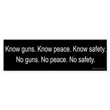Know Guns Bumper Bumper Sticker