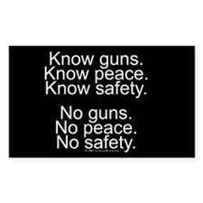 Know Guns Rectangle Decal
