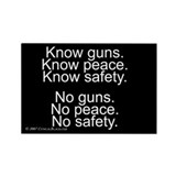Know Guns Rectangle Magnet (100 pack)
