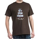 Bride Blue Brown Wedding Cake Brown T-Shirt