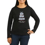 Bride Blue Brown Wedding Cake Black Long Sleeve T