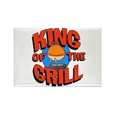 King of the Grill<br> Rectangle Magnet