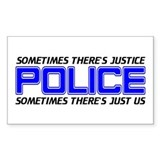 Police Justice Rectangle Decal