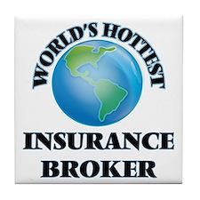 World's Hottest Insurance Broker Tile Coaster