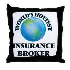 World's Hottest Insurance Broker Throw Pillow