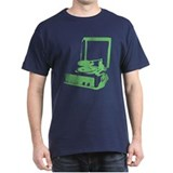 Retro Record Player  T-Shirt - green