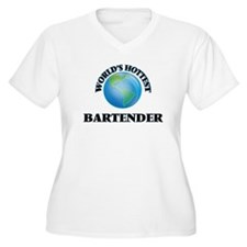 World's Hottest Bartender Plus Size T-Shirt