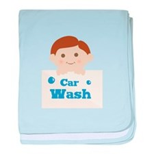Car Wash baby blanket