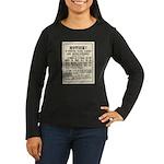 Las Vegas Vigilantes Women's Long Sleeve Dark T-Sh