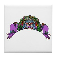 Purple Demon Tile Coaster