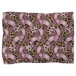 Leopards'n Lace - Pink Pillow Sham