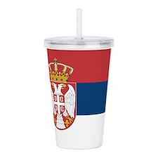 Serbia Flag Acrylic Double-Wall Tumbler