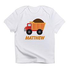 Dump Truck Construction personalized Infant T-Shir