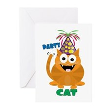 Party Cat Greeting Cards