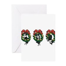 Cute Boston terrier christmas Greeting Cards (Pk of 20)