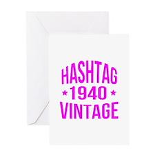 Hashtag Vintage 1940 Greeting Card