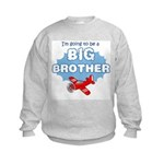 Big Brother to be -Airplane Kids Sweatshirt