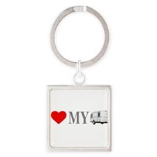 Cute Travel Square Keychain