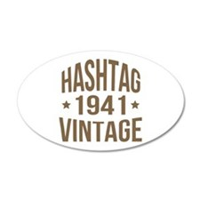 Hashtag Vintage 1941 Wall Decal