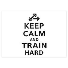 Keep calm and train hard Invitations