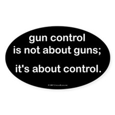 Gun Control Oval Decal