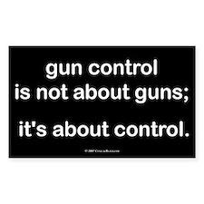Gun Control Rectangle Decal
