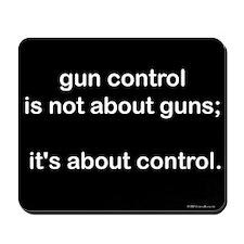 Gun Control Mousepad