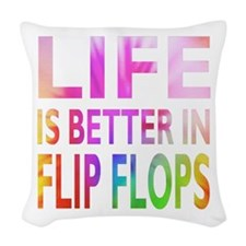 Life Is Better In Flip Flops Block Tie Dye Woven T