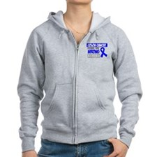 Colon Cancer Wrong Chick Zip Hoodie
