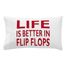Life Is Better In Flip Flops Block Print Red Pillo