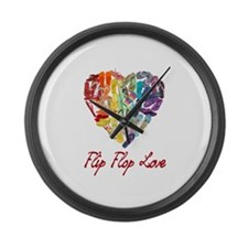 Flip Flop Love Large Wall Clock