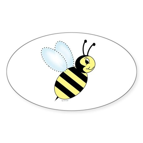 Bumblebee Oval Sticker