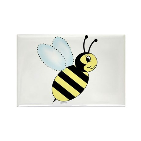 Bumblebee Rectangle Magnet (100 pack)