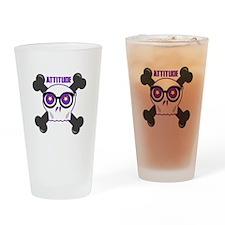 Attitude Drinking Glass