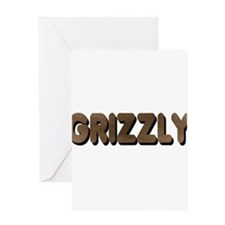 Cute Grizzly bear Greeting Card