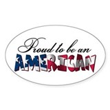 Proud to be an American Oval Decal