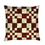 Cracked Tiles - Red Master Pillow